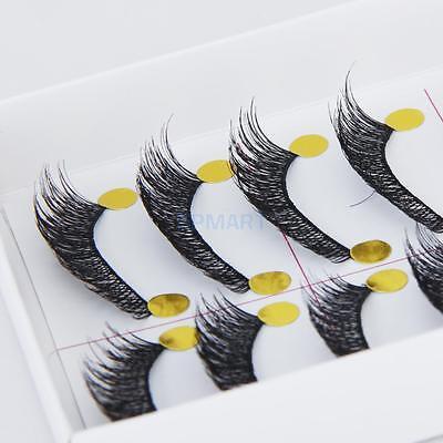Bulk 10 Pairs Handmade Natural Long Thick False Fake Eyelashes Makeup Eye Lashes