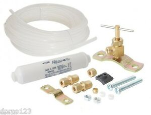 Lead Free Ice Maker Filter Kit With Valve Tubing And Hardware Dirty Packaging Ebay