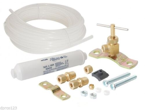 Lead Free Ice Maker Filter Kit With Valve,Tubing And Hardware