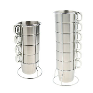 Stainless-Steel-Tea-Coffee-Water-Cup-Mug-Drinking-Set-with-Metal-Stand-Rack