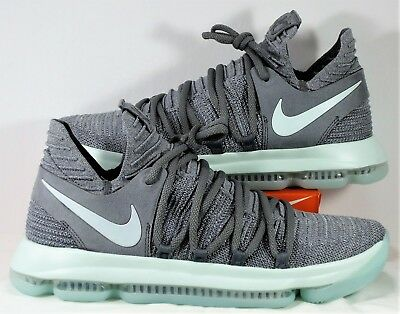 3f2ddf6791f9 Nike Zoom KD 10 Kevin Durant Cool Grey   Igloo   White Sz 10 NEW 897815