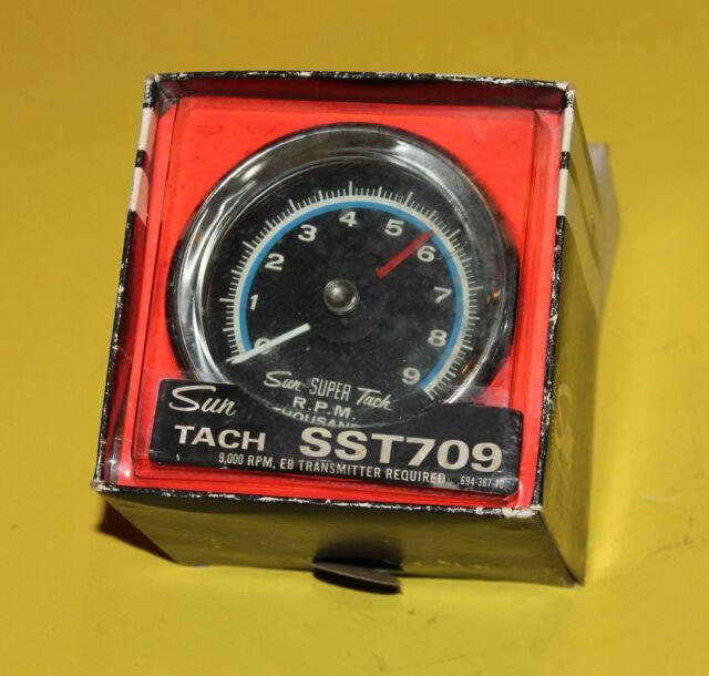 Sun Tach Wiring Diagram, Nos Sun Tachometer Sst 709 9000 Rpm Blue Line, Sun Tach Wiring Diagram
