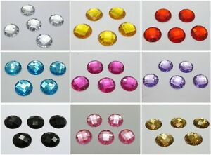 100-Flatback-Acrylic-Faceted-Round-Sewing-Rhinestone-Gems-16mm-Sew-on-beads