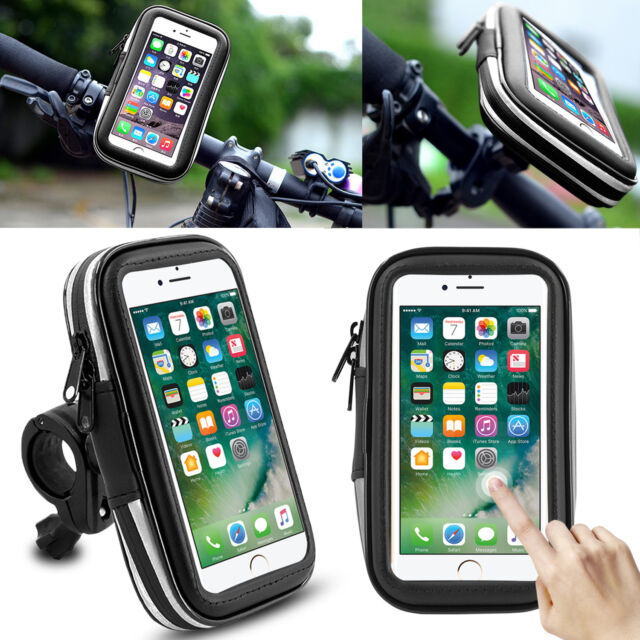 Bike Bicycle Motorcycle Waterproof Phone Case Bag Handlebar Mount Holder GPS US