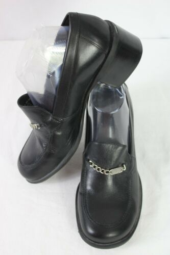 Womens Tommy Hilfiger Black Leather Chain Slip On