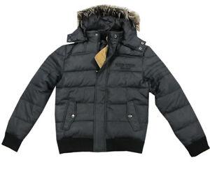 Details zu MillionX Jacke Winterjacke Steppjacke Kapuze schwarz Kinder Jungen Gr.128,152