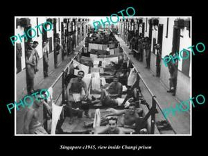 OLD-LARGE-HISTORIC-PHOTO-OF-SINGAPORE-POWs-INSIDE-THE-CHANGI-PRISON-c1945