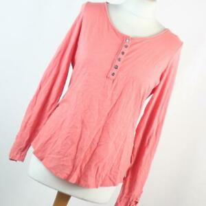 Marks-amp-Spencer-Womens-Size-12-Pink-Plain-Cotton-Basic-Tee