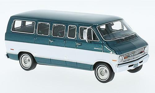 Dodge Sportsman  verde Metallic bianca  1973 (Neo Scale 1 43   46942)