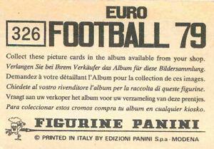 "Vignette NEESKENS Sticker n°231 /""EURO FOOTBALL 79/"" PANINI ULTRA RARE !"