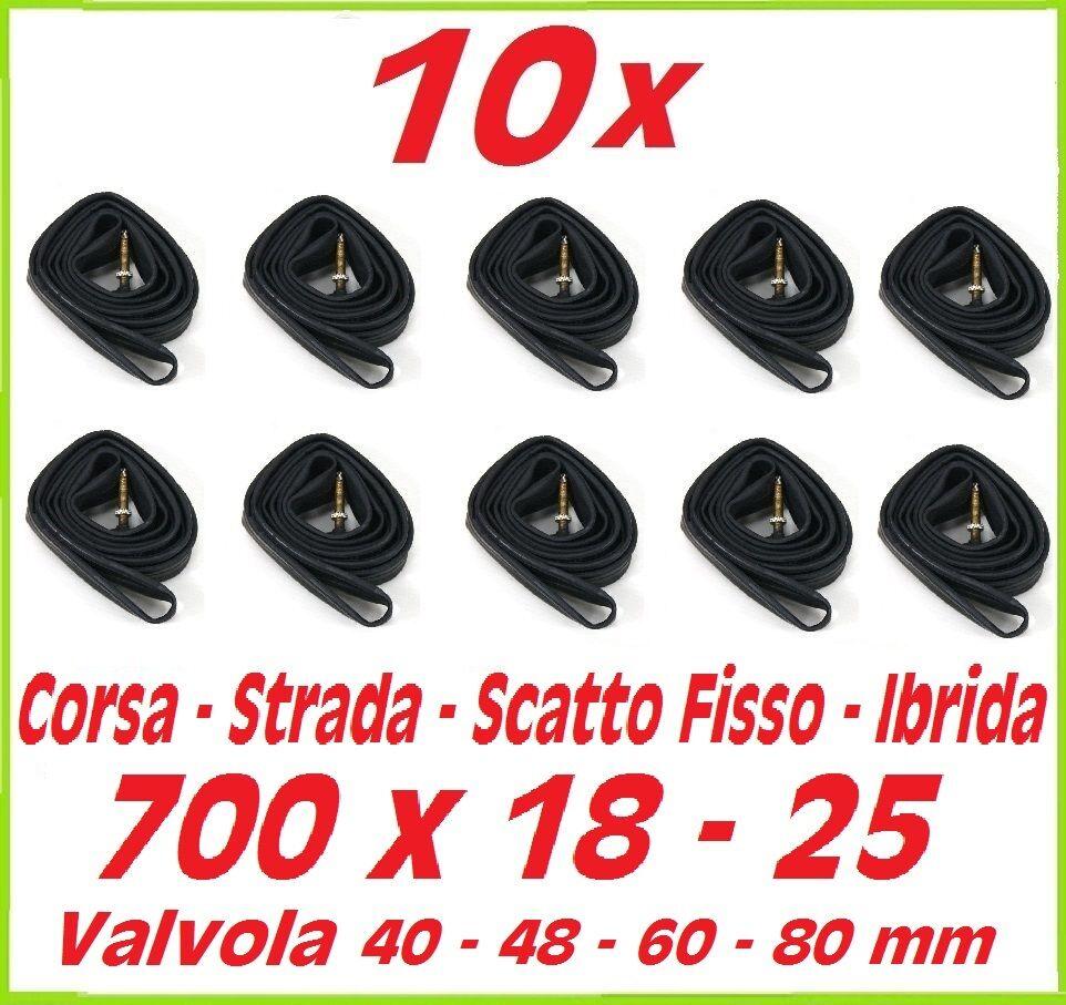 SÚPER oferta- 10 x CÁMARA DE AIRE Strada   Carreras 700 18 - 25   40 48 60 80 mm