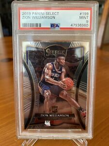 2019-20 Panini Select Zion Williamson Premier RC Rookie PSA 9 MINT SP