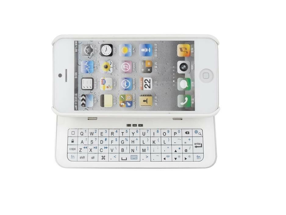 sale retailer 18845 c6ee9 White Ultra-thin Back-light Wireless Bluetooth 3.0 Keyboard Case for iPhone  5S 5