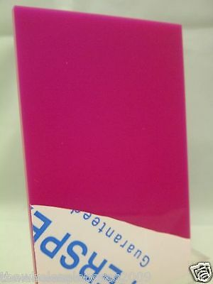 RED / PINK ACRYLIC 3MM THICK PERSPEX SHEET CUSTOM CUT PANEL FAST FREE DELIVERY