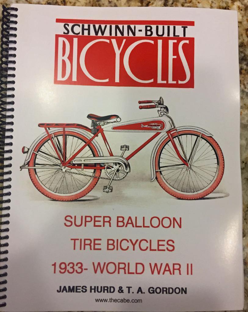 ALL COLOR BOOK prewar 1933 to 1941 SCHWINN BICYCLES antique catalog brochure