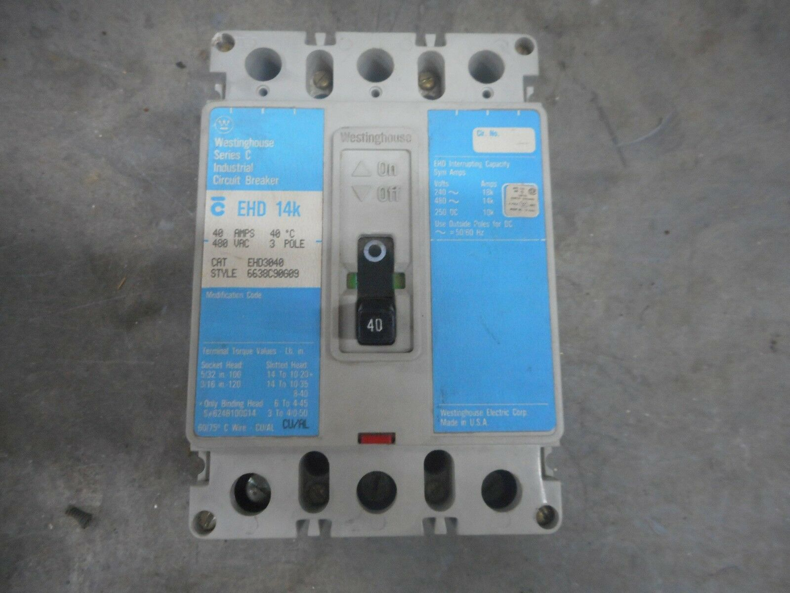 Cutler Hammer Ehd3030l 30a Circuit Breaker Ehd3030 Westinghouse 30 Installation With A Pb30 Inlet On Main Amp Ebay