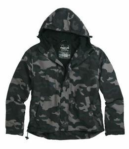 Men's Black Fleece Lined Windbreaker Jacket