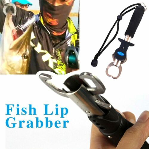 Fish Lip Grip Portable Stainless Steel Fishing Grabber Lure Pliers Outdoor Gear