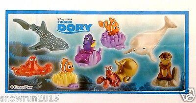 NEW 2017 Finding Dory Disney 8 toys Kinder surprise egg complete set bpz!