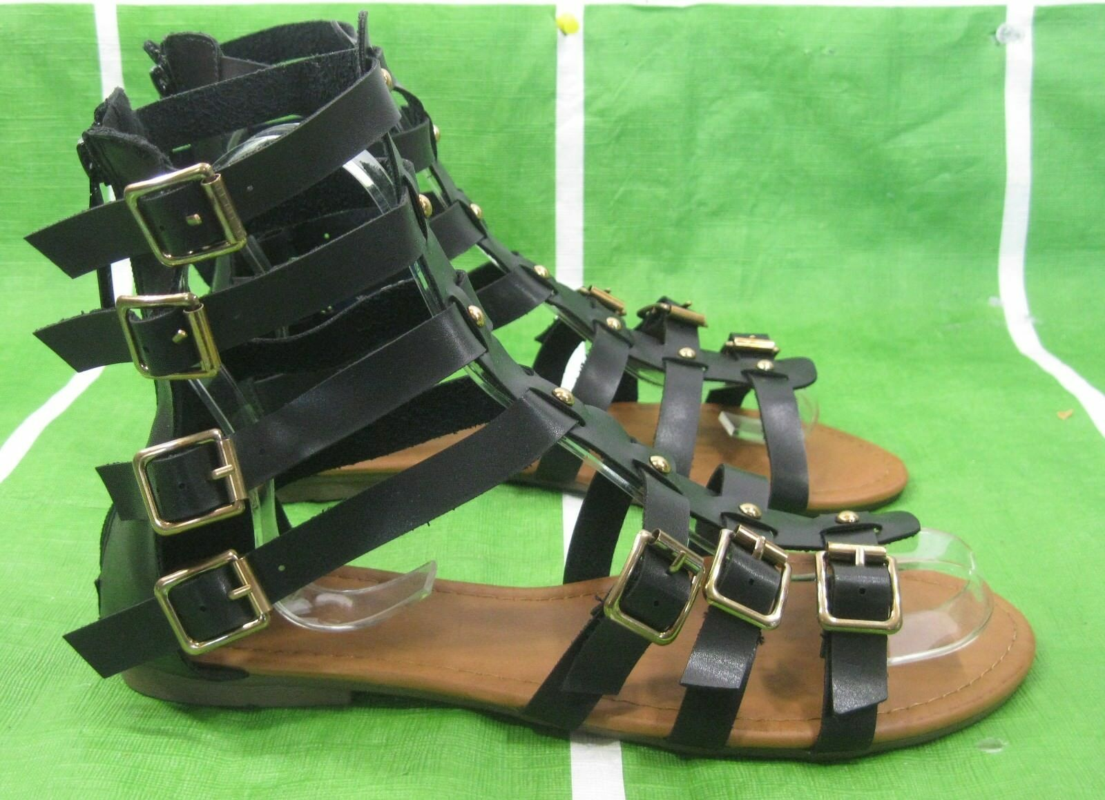 Summer Black Womens Shoes Flat Open Toe Sexy Gladiator Sandals Shoes Womens Size 6 df37e3