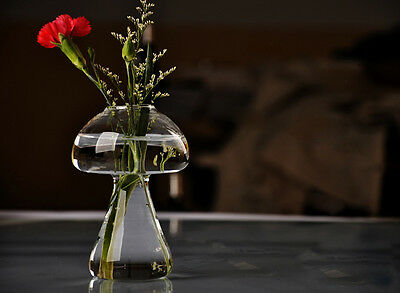 A Hydroponic Vase Glass Mushroom Shape Vase Window Vase x 1