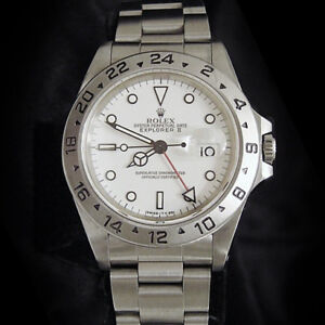 Rolex-Stainless-Steel-Oyster-Perpetual-Explorer-II-Date-Watch-40mm-White-16570
