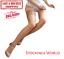 Indexbild 2 - Non-Stretch-Stockings-Seamless-GLOSSY-COFFEE-10-Denier-Medium-UK