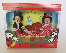 BARBIE DISNEY MICKEY & MINNIE MOUSE KELLY AND TOMMY DOLL SET NRFB