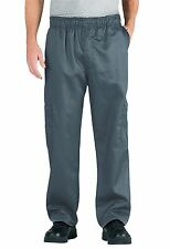 Chef Code Classic Chef Pants With Cargo Pockets Elastic Waist Cc204