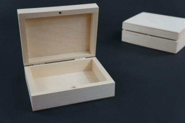 1 X Plain Wooden Box For 1 Set Of Playing Cards Chest Storage Trinket