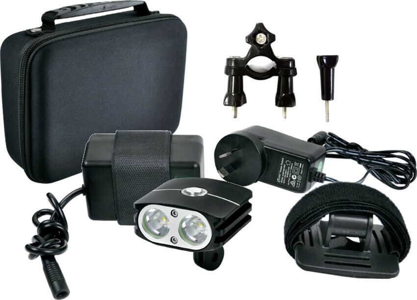 Azur 2000 Lumens Rechargeable Front Light Kit