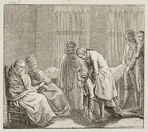 Chodowiecki (1726-1801). sconcertante lutto per sottomissione; pressione grafico 1