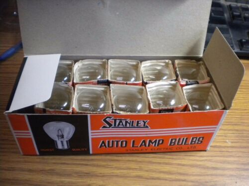 NOS Honda Yamaha Stanley Head Light Bulb A5659K 6 Volt Box of 10 Made in Japan