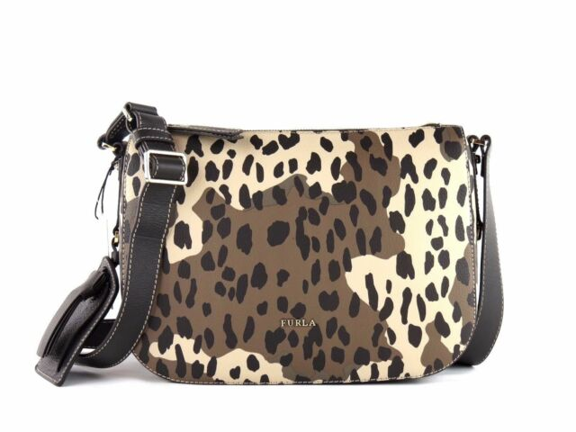Furla 852336 Emma Toni Safari Italian Leather Zip Top Crossbody Shoulder Bag e0028dcb95b57