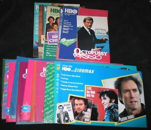 RARE-18-Guides-1981-85-HBO-CINEMAX-Movie-Guides-NICE-MINT-COPIES