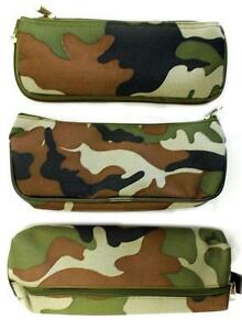 Boys-Kids-Camouflage-Combat-Army-Green-Pencil-Pen-Case-School-College-or-Home