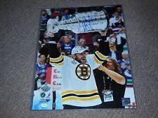 Boston Bruins Milan Lucic Autographed 16x20 Photo Stanley Cup Shot JSA Authentic