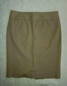 BANANA REPUBLIC Women's Beige Stretchy Bodycon Pencil Skirt. Size UK 10, US 6.