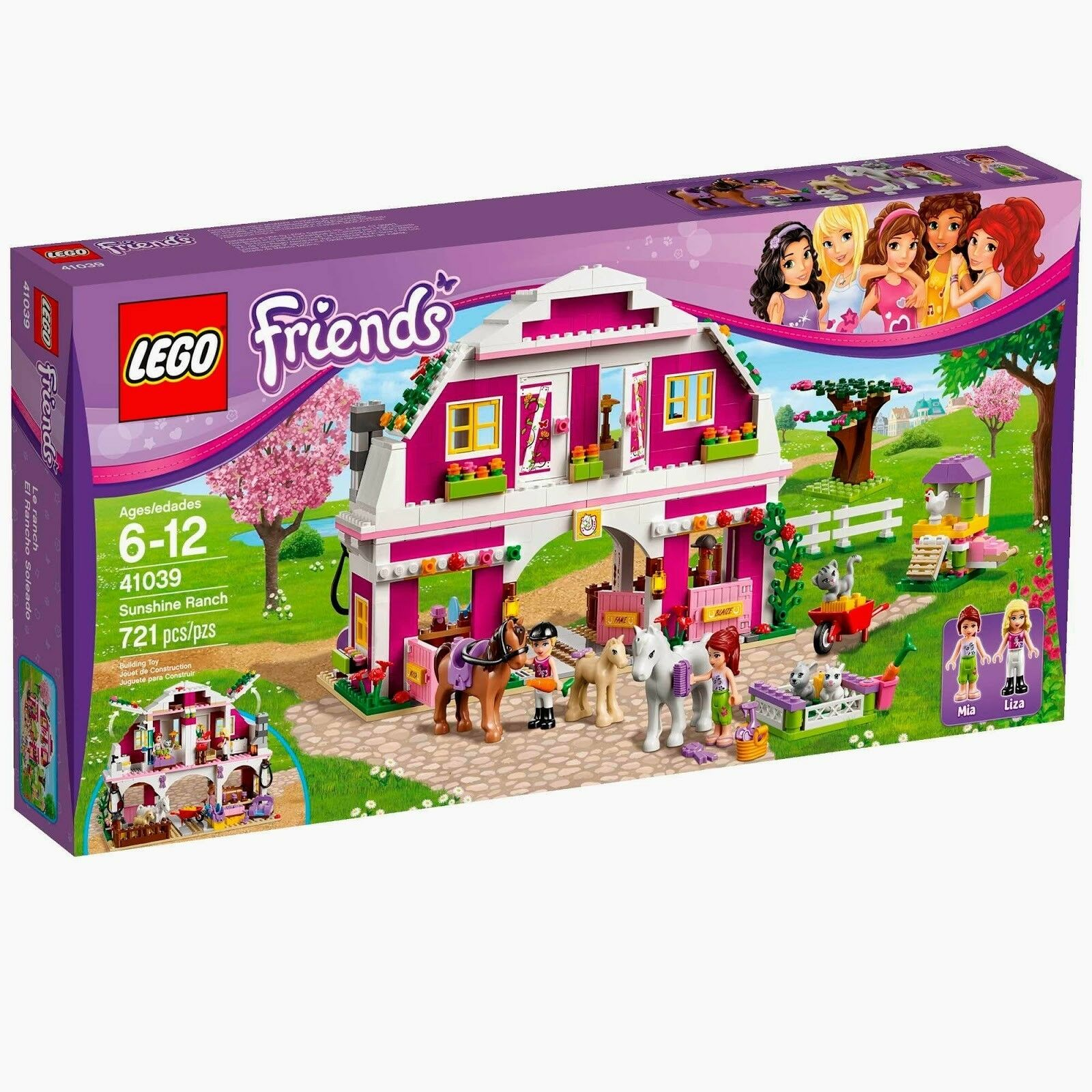 Lego vänner 41039 SUNSHINE RANGH Horse Saddle Pony Minifigs Xmas Nuvarande NISB
