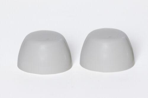 Set of  2 PLATINUM GRAY Crane Color Replacement Plastic Toilet Bolt Caps