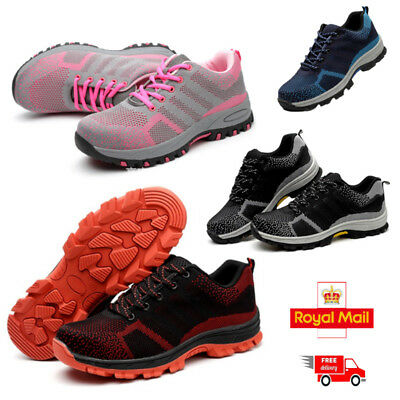 MENS LADIES WOMENS ULTRA LIGHTWEIGHT STEEL TOE CAP SAFETY WORK SHOES TRAINERS UK