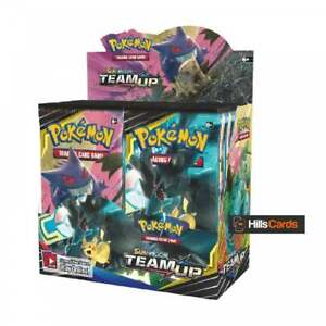 Pokemon-Sun-amp-Moon-Team-Up-Sealed-Booster-Box-of-36-Packs-SM-9-TCG-Trading-Cards