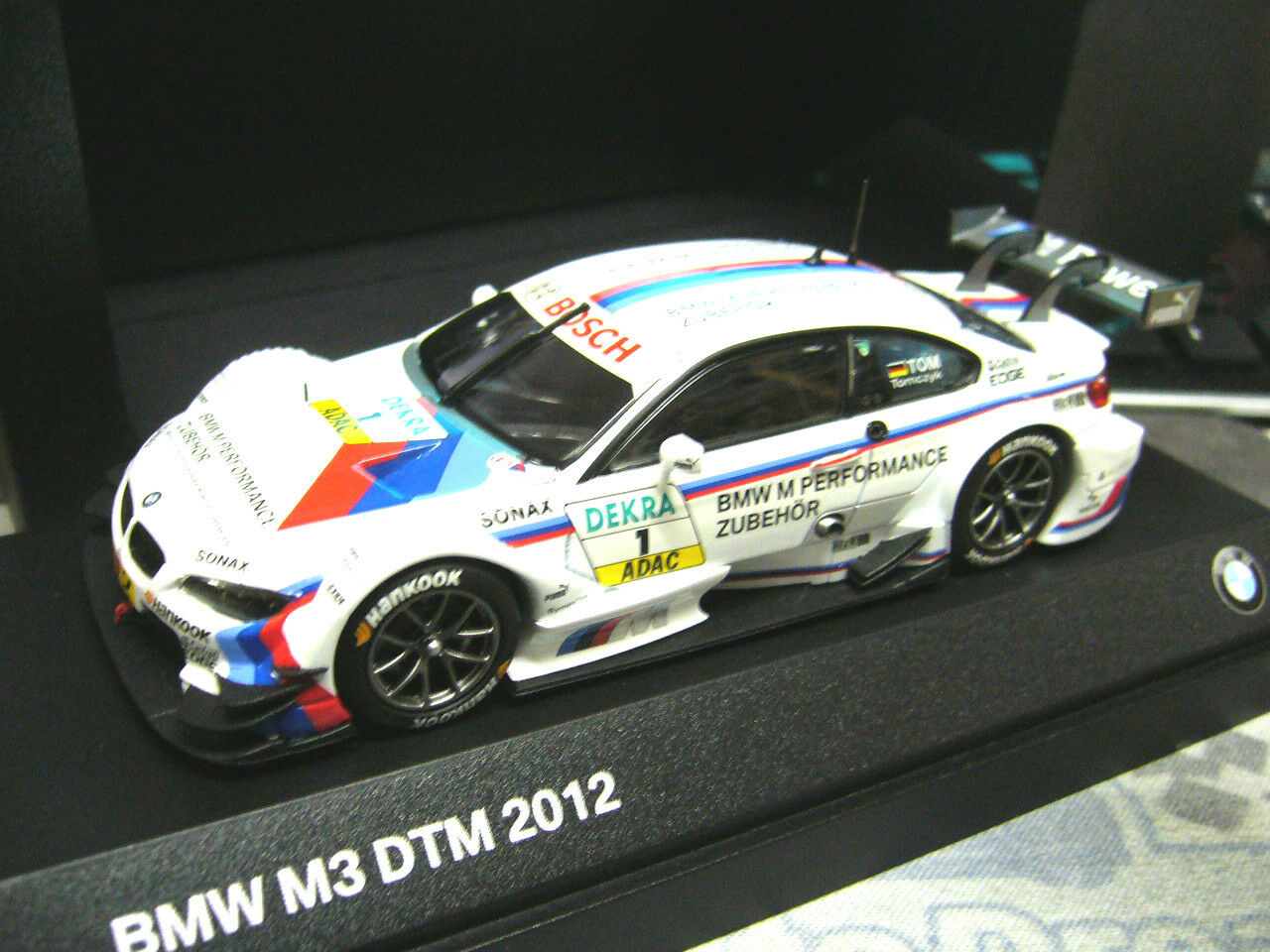 BMW m3 e92 COUPE DTM 2012 tomczyk  1 M performance industrie Bmw Minichamps 1 43
