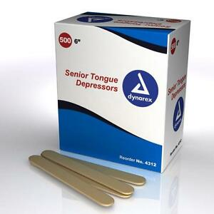 NEW-BOX-of-500-ADULT-TONGUE-DEPRESSORS-TONGUE-BLADES