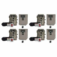 Stealth Cam P18cmo 7mp Ir Game Trail Camera W/ Sd Card (4 Pack) + Security Boxes on sale