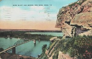Red Wing, MN Barn Bluff and Bridge Postcard Posted 1945 | eBay