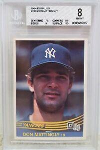 1984-Donruss-Don-Mattingly-RC-248-BGS-8-NM-MT-New-York-Yankees-HOF-Rookie