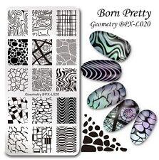 BORN PRETTY Nail Art Stamp Image Plate Goemetry Theme Manicure Template BPX-L020