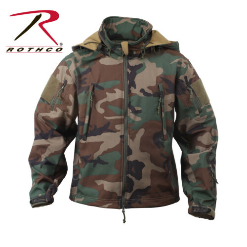 ROTHCO US Special SPEC OPS Army TACTICAL Fleece SOFTSHELL JACKE woodland camo