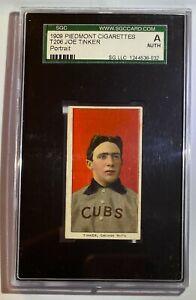 JOE TINKER (PORTRAIT) T206 PIEDMONT CIGARETTE CARD CHICAGO CUBS HOF
